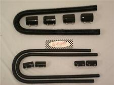 "48"" Black Stainless Steel Radiator Hose & 44"" Black Heater Hose Kit Universal SS"