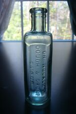 Antique DR. HOOKER'S COUGH & CROUP SYRUP Quack Medicine Bottle- 1800's