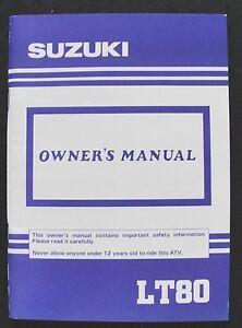 ORIGINAL 1991 SUZUKI LT80 LT 80 ATV OPERATORS OWNER'S MANUAL VERY NICE