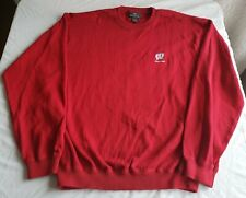 """Brand new vintage Antigua brand, """"WISCONSIN"""" long-sleeved crewneck sweater in L"""
