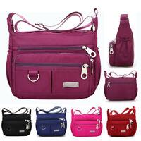 Waterproof Women Ladies Multi Pocket Messenger Handbag Cross Body Shoulder Bag