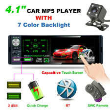 "4.1"" Single 1 DIN Car MP5 Player Bluetooth 2USB Touch Screen Stereo Radio+Camera"