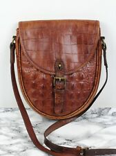 MULBERRY Vintage Rich Tan Brown Congo Leather Saddle Satchel Shoulder Bag