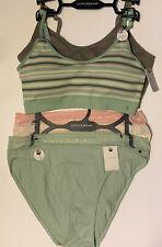2 Pk Lucky Brand Bralette Bra Ribbed Seamless Comfort & 3 Panty Set XL MSRP $90