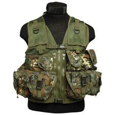 TACTICAL FORCES MILITARY ASSAULT VEST 9 POCKETS RANGE COMBAT BW ARMY FLECKTARN