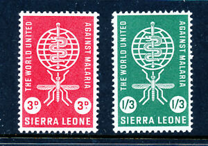 SIERRA LEONE 1962 MALARIA ERADICATION SG240/241  MNH