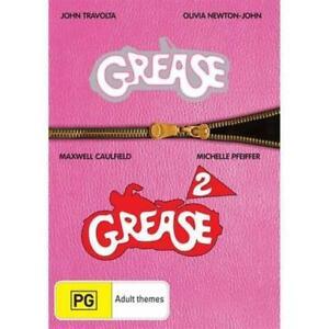 Grease 1 & 2 John Travolta & Olivia Newton-John, Michelle Pfeiffer 2DVD NEW