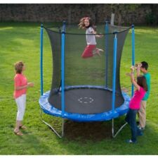 NEW KIDS TRAMPOLINE & ENCLOSURE 8FT EXTENDED POLES FOR EXTRA SAFETY