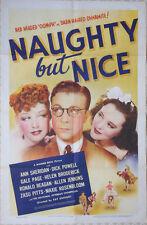 "One Sheet Poster - ANN SHERIDAN - DICK POWELL - ""Naughty But Nice"" - 1939"