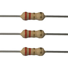 100 x 2.2 Ohm Carbon Film Resistors - 1/4 Watt - 5% - 2R2 - Fast USA Shipping
