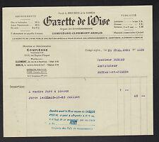 """COMPIEGNE (60) JOURNAL / IMPRIMERIE PRESSE """"LA GAZETTE DE L'OISE"""" en 1925"""