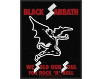 BLACK SABBATH we sold our - 2013 - WOVEN SEW ON PATCH (sealed) Ozzy Osbourne