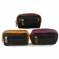 NEW Ladies Handy LEATHER Zipped COIN PURSE by Golunski Zen 3 Colours Soft Smooth