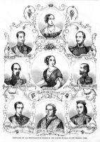 PORTRAITS OF WORLD RULERS, QUEEN VICTORIA, MAXIMILIAN