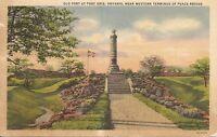 Old Fort At Fort Eirie,Ontario, Near Western Terminus of Peace Bridge .Postcard.