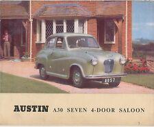 Austin A30 Seven 4 door Saloon 1951-53 Original UK Sales Brochure Pub No 850/C