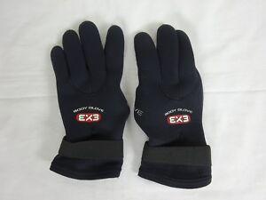 Body Glove 3mm Ex3 Five Finger Glove ~ Large