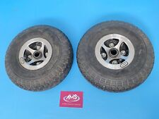 Pair of Invacare Leo 4mph Mobility Scooter Rear Wheels & Tubed Tyres - Parts A