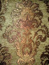 Tissu D'ameublement Baroque Antique Neuf Jaquard Chenille Webstoff Vert
