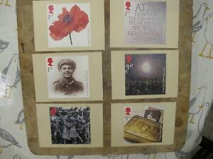 2014 GB Royal Mail PHQ Postcard set - The Great War / World War 1