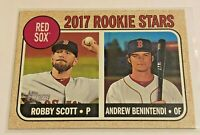 2017 Topps Heritage Baseball Rookie - Andrew Benintendi RC - Boston Red Sox