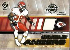 2001 Private Stock Game Worn Gear Patch #77 Kimble Anders/275 Jersey - NM-MT