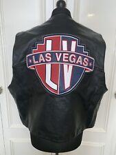 Las Vegas Leather Together - Black Motorcycle Biker Waistcoat Vest XXL MINT