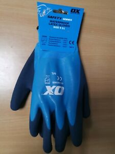 OX WATERPROOF LATEX GLOVES Various Sizes available