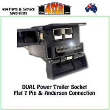 DUAL Power Trailer Socket 7 Pin & Anderson Style Plug Connection w/ LED Light