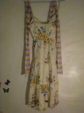 Pure Silk MNG Flower Print Strappy Dress Size: Small/Medium