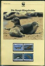 Turkmenistan 1993 WWF komplettes Kapitel postfrisch MK FDC Ringelrobbe (WW193