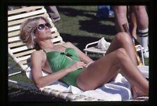 Farrah Fawcett sunbathing green swimsuit Photo Agency Original 35mm Transparency