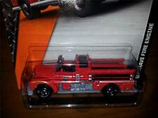 New MOC 2014 Red Matchbox Classic Seagrave Fire Engine Truck #77
