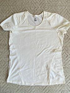 ARC'TERYX Lana Comp MERINO WOOL Nylon SHORT Sleeve T-SHIRT Top WOMENS size LARGE