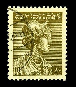 Syrian stamp 1962  / Syrian Arab Republic  / Scott 446  /  Zenobia / Used