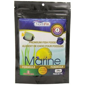 NorthFin Marine Formula 2mm Slow Sinking Pellets 250g Premium Fish Food Diet
