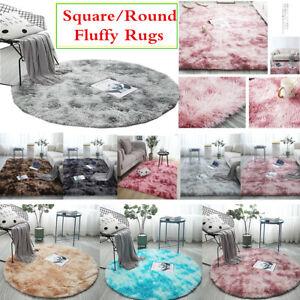 Flauschige Shaggy Teppiche Langflor Teppich Rund Verschiedene Farben und Größen