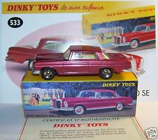 DINKY TOYS ATLAS MERCEDES-BENZ COUPE 300 SE ROUGE METAL REF 533 1/43 IN BOX