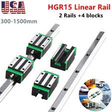 2pcs Hgr15 Linear Guide Rail 4pcs Hgh15ca Slider Block 300 1500mm Cnc 3d Printe