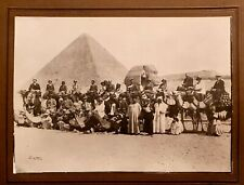 Original old photograph Pyramid and Sphinx Giza Egypt photo foto pyramide