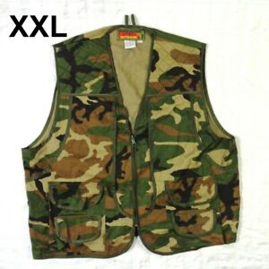 Avid Outdoor Mens Camo Hunting Vest Multi Pocket + Game PouchSize XXL 2XL 50-52