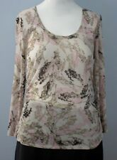 KENNETH COLE Size M Multi-Color Semi-Sheer Long Sleeve Tops Shirt