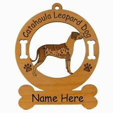Catahoula Leopard Dog Breed Ornament Personalized With Your Dogs Name 2078