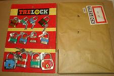 ESPOSITORE 12 LUCCHETTI TRELOCK ANNI '60/'70 NUOVO EA180 MADE IN WEST GERMANY