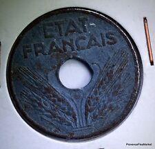 MONNAIE  FRANCE 20 centimes ETAT FRANCAIS  1943  ZINC  AC415
