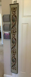 """Vintage Tapestry Bell Pull, Wall Hanging, Tapestry / Needlepoint, 64"""" X 7"""""""