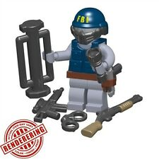 Brickforge Tactical FBI RAIDER Accessory Pack for Lego Minifigures