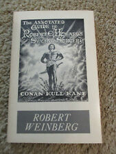 Annotated Guide to Robert E. Howard's Sword and Sorcery, R. Weinberg, 1976