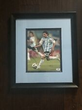 Lionel Messi Barcelona Argentina UEFA World Cup signed 8x10 framed COA PSA