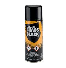 Games Workshop Warhammer 40K Citadel Spray Primer - Chaos Black, 400 ml